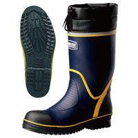 ミドリ安全 2146001712 安全長靴 先芯入り ワークプラスブーツ 766Nネイビー 26.5cm 1足 (直送品)