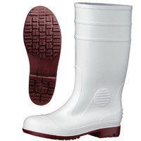 ミドリ安全 2140004008 耐滑抗菌安全長靴ハイグリップ HG1000スーパー白 24.5cm 1足 (直送品)