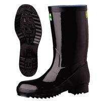 ミドリ安全 防水・耐油・耐熱 安全長靴 先芯入り 921T ブラック 25.0cm(3E) 21460100 1足 (直送品)