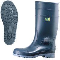ミドリ安全 2140100010 安全長靴 先芯入り W1000静電 青25.5cm 1足 (直送品)