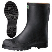ミドリ安全 防水・耐油・耐熱 安全長靴 先芯入り 913裏付 ブラック 24.0cm(3E) 21410001 1足 (直送品)
