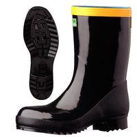 ミドリ安全 防水・耐油・耐熱 静電安全長靴 先芯入り 921T ブラック 27.0cm(5E) 2146010 1足 (直送品)