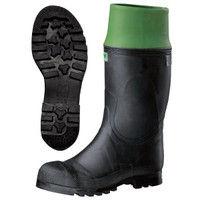 ミドリ安全 防水・耐油・耐熱 安全長靴 先芯入り 913フード付 ブラック 25.5cm(3E) 21410004 1足 (直送品)