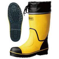 ミドリ安全 2146001607 安全長靴 先芯入り ワークプラスブーツ 766N黄 24.0cm 1足 (直送品)