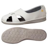 ミドリ安全 作業靴 静電 サンダル PS01S 大 先芯なし 30.0cm ホワイト 1足 2100000703(直送品)