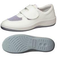 ミドリ安全 2100107402 静電作業靴 エレパス SU403 白 21.5cm 1足 (直送品)