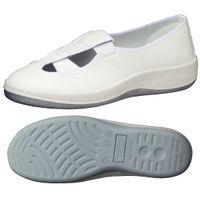 ミドリ安全 静電 作業靴 スリッポン SU402 先芯なし 26.5cm ホワイト 1足 2100107212(直送品)