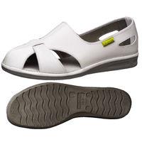 ミドリ安全 2100110002 静電作業靴 エレパスクールN 白 21.5cm 1足 (直送品)