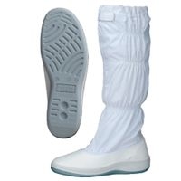 ミドリ安全 静電 作業靴 ブーツ SU571 大 先芯なし 30.0cm ホワイト 1足 2100108103(直送品)