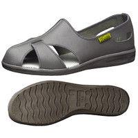 ミドリ安全 2100110205 静電作業靴 エレパスクールN グレイ 23.0cm 1足 (直送品)