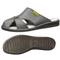 ミドリ安全 2100111102 静電作業靴 エレパスクールライトN グレイ S 1足 (直送品)