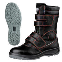 ミドリ安全 2125080309 先芯入り作業靴 デサフィオ DSFー35 黒ブーツ・マジックタイプ 25.0cm 1足 (直送品)