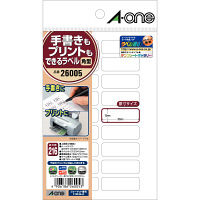 エーワン ラベルシール 整理・表示用 プリンタ兼用 マット紙 白 はがきサイズ 18面 1袋(12シート入) 26005