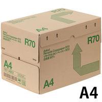 リサイクルコピーペーパーR70 白色度80% A4 1箱(2500枚:500枚入×5冊) アスクル