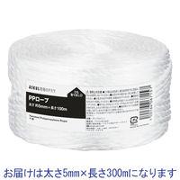 「現場のチカラ」 PPロープ 5mm×300m 白 1巻 アスクル