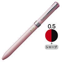 三菱鉛筆(uni) ジェットストリームF 多機能ボールペン 2色+シャープ 0.5mm MSXE3-701-05 シュガーピンク軸 1本