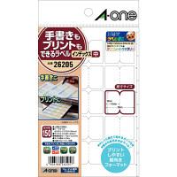 エーワン ラベルシール インデックス プリンタ兼用 マット紙 白 はがきサイズ 15面 1袋(10シート入) 26205