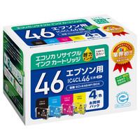 エコリカ リサイクルインク ECI-E464P/BOX 1パック(4色入)(エプソン IC4CL46互換)