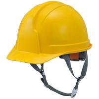STARLITE(スターライト販売) ヘルメット(アメリカンタイプ)SS-100型 ABS樹脂 黄 頭囲/54cm~61cm FS-100AJZ-Y 1個