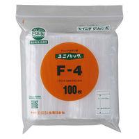 ユニパック(R)(チャック付ポリ袋) 0.04mm厚 A6 120mm×170mm 食品対応 1袋(100枚入) 生産日本社