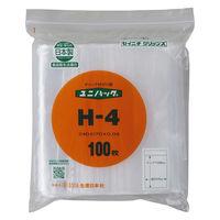ユニパック(R)(チャック付ポリ袋) 0.04mm厚 A5 170mm×240mm 食品対応 1袋(100枚入) 生産日本社
