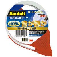 スリーエム ジャパン スコッチ 透明梱包用テープ 3450S-RD 1パック(1巻+カッター1個)