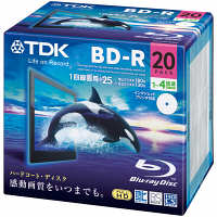 TDK Life on Record 録画用BD-R(ブルーレイディスク) 1-4倍速 ホワイト BRV25PWB20A 1パック(20枚入)