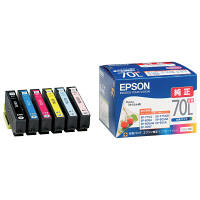 セイコーエプソン インクジェットカートリッジ IC6CL70L 6色パック(増量) 1パック(6色入) IC70シリーズ