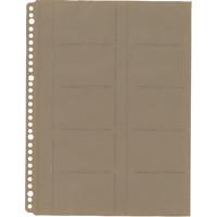 キングジム 名刺ホルダー A4判30穴ファイル用リフィル 名刺ポケット ヨコ入れ 39D 1袋(10枚入)