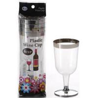 プラスティックワイングラス200ml 4個