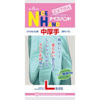 ニトリルゴム手袋(裏毛付) ナイスハンドエクストラ中厚手 Lサイズ グリーン 1双 ショーワグローブ