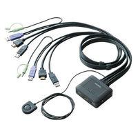 """""""エレコム HDMI対応パソコン切替器 手元スイッチ KVM-HDHDU2 (取寄品)"""""""
