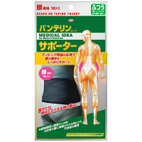 興和 バンテリンサポーター 腰 女性用 ブラック ふつうサイズ 1個