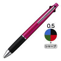 三菱鉛筆(uni) ジェットストリーム多機能ボールペン 4色+シャープ 0.5mm MSXE5-1000-05 ピンク軸 1本