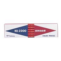 トンボ鉛筆 硬質色鉛筆(赤) 2200-25 1ダース(12本入)