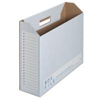 プラス ボックスファイル(エコノミータイプ) B4 ブルー 77897 1袋(5冊入)