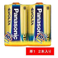 パナソニック アルカリ乾電池 エボルタ 単1形 LR20EJ/2SE 1パック(2本入)