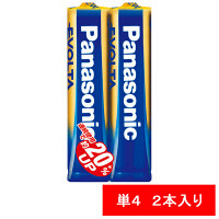 パナソニック アルカリ乾電池 エボルタ 単4形 LR03EJ/2S 1パック(2本入)