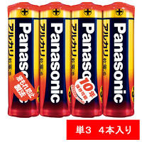 パナソニック アルカリ乾電池 単3形 LR6XJ/4SE 1パック(4本入)