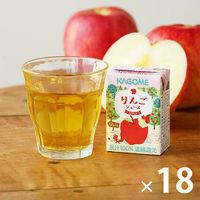 カゴメ 果汁100%りんごジュース(こども支援パッケージ) 100ml 1箱(18本入)