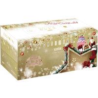 【数量限定】ティッシュペーパー 高品質 220組(1箱入) スコッティカシミヤ クリスマスデザイン 日本製紙クレシア