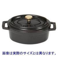 【並行輸入品】 STAUB(ストウブ) ピコココット オーバル 23cm IH対応 ブラック STOVAL-2581