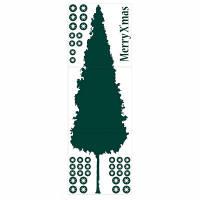 マイサ ハル インテリアステッカー クリスマスツリーL デネルフォレスト 018-042 1セット (直送品)