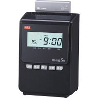 電波時計タイムレコーダー ブラック