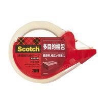 3M スコッチ(R)透明梱包用テープ 313シリーズ 0.065mm厚 50m巻カッター付 313D 1PN 1パック(1巻+カッター1個)スリーエム ジャパン