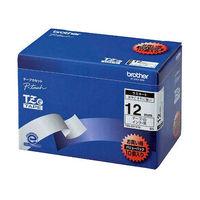 ブラザー ピータッチテープ ラミネート 12mm 白テープ(黒文字) 1パック(10個入) TZe-231V10