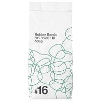 共和「現場のチカラ」 カラー輪ゴム ラバーバンド #16 緑 1袋(500g・約3400本入)