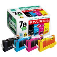 エコリカ リサイクルインク ECI-CA07E4P/BOX 1パック(4色入)(キヤノン BCI-7e/4MP互換)