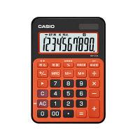 カシオ計算機 カラフル電卓 ビターオレンジ MW-C12A-BO-N 1個