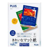 プラス きれいなマット紙 B5 IT-110MP 1袋(100枚入)